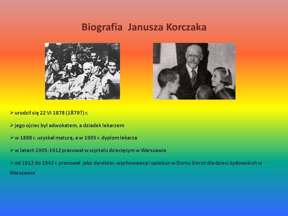 Biografia Janusza Korczaka  urodził się 22 VI 1878 (1 8 79?) r.