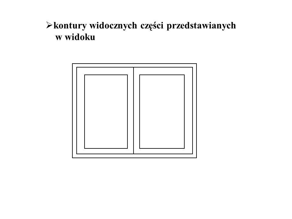  kontury widocznych części przedstawianych w widoku