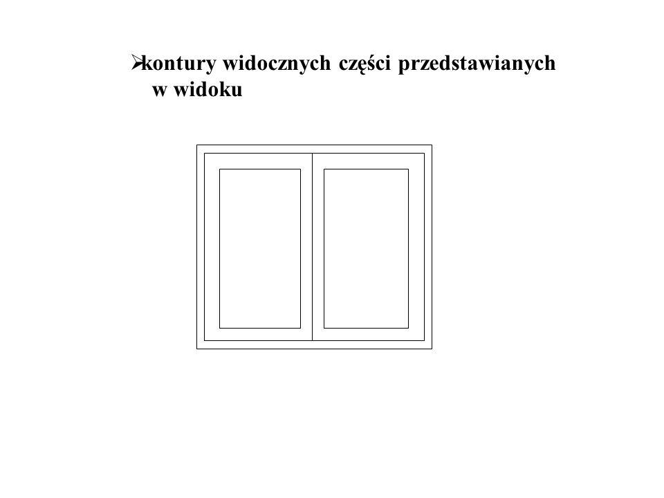  uproszczone przedstawienia drzwi, okien, schodów, wyposażenie
