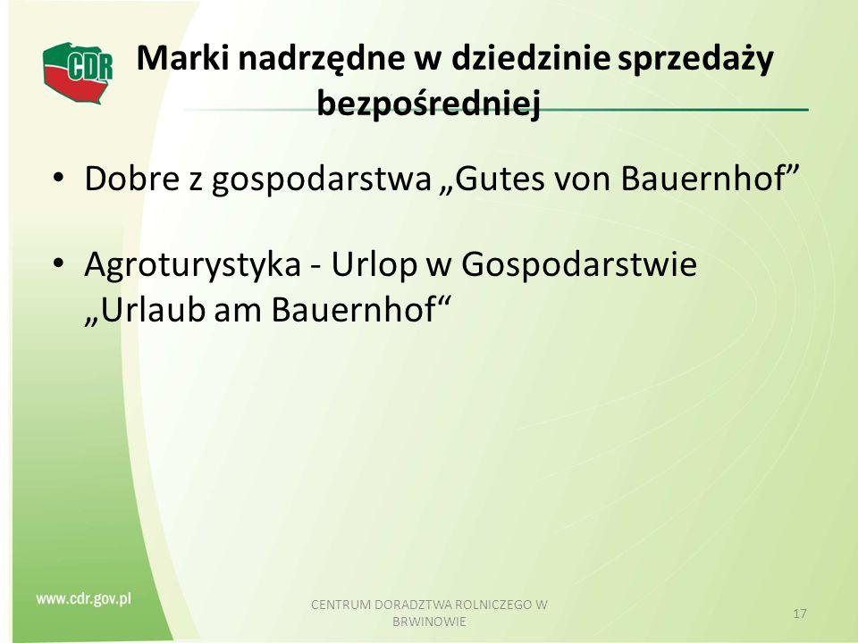"""Marki nadrzędne w dziedzinie sprzedaży bezpośredniej Dobre z gospodarstwa """"Gutes von Bauernhof"""" Agroturystyka - Urlop w Gospodarstwie """"Urlaub am Bauer"""
