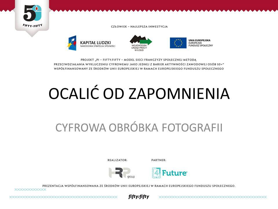 ĆWICZENIA Znajdźcie w Internecie nazwy programów służących do cyfrowej obróbki zdjęć.