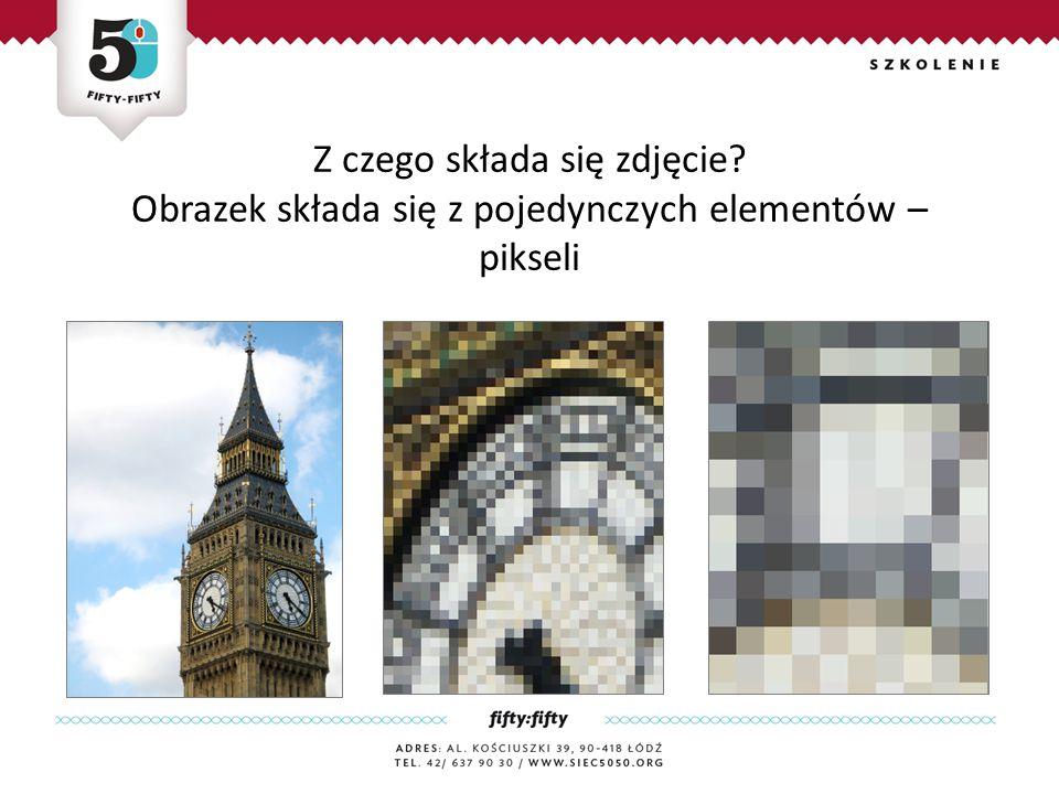 Z czego składa się zdjęcie Obrazek składa się z pojedynczych elementów – pikseli