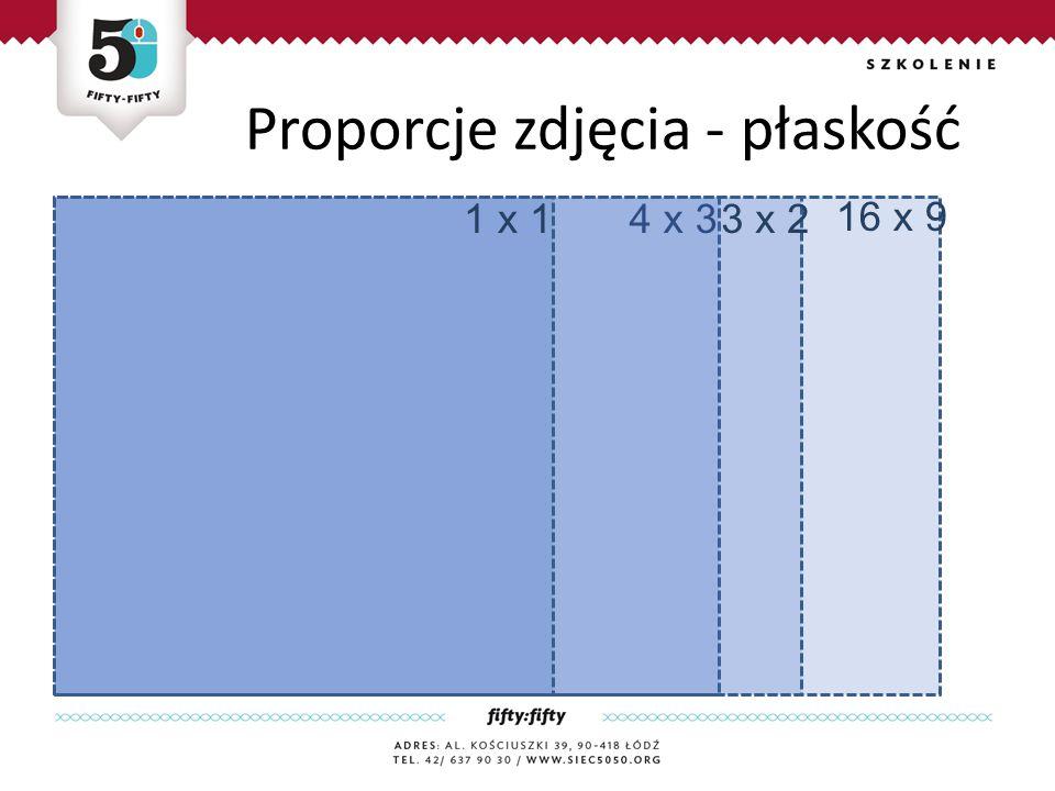 Proporcje zdjęcia - płaskość 16 x 9 4 x 33 x 21 x 1