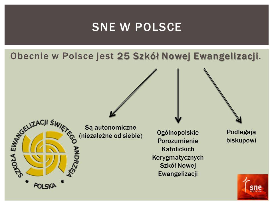 25 Szkół Nowej Ewangelizacji Obecnie w Polsce jest 25 Szkół Nowej Ewangelizacji.