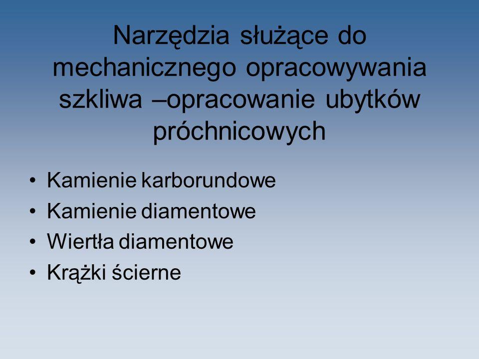 Zestawy do przygotowywania wypełnień Płytki szklane (można sterylizować) – dwustronne, składają się z części gładkiej i matowej.