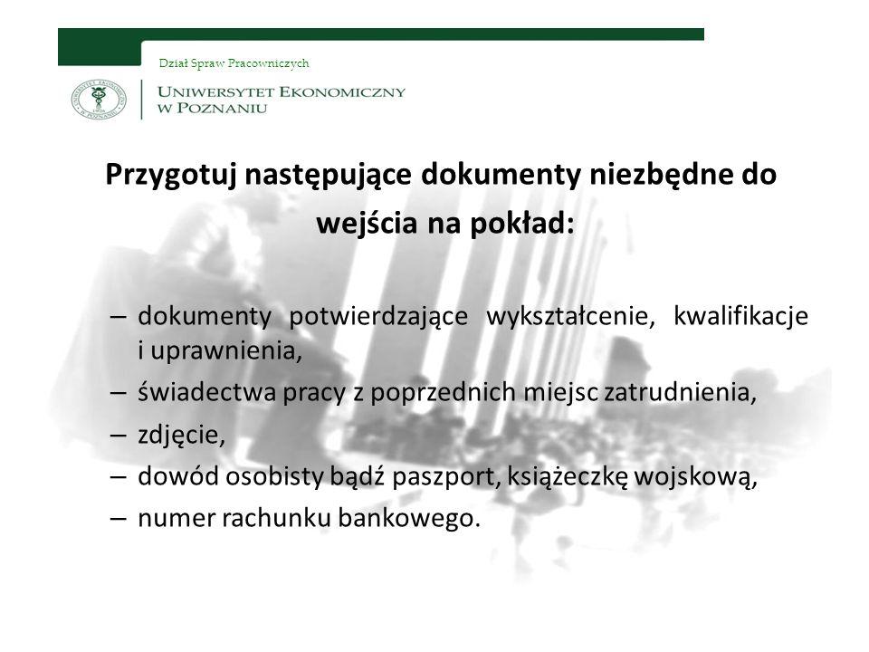 Dział Spraw Pracowniczych Kontakt z każdym członkiem naszej załogi uzyskasz poprzez bazę pracowników http://baza.ue.poznan.pl/