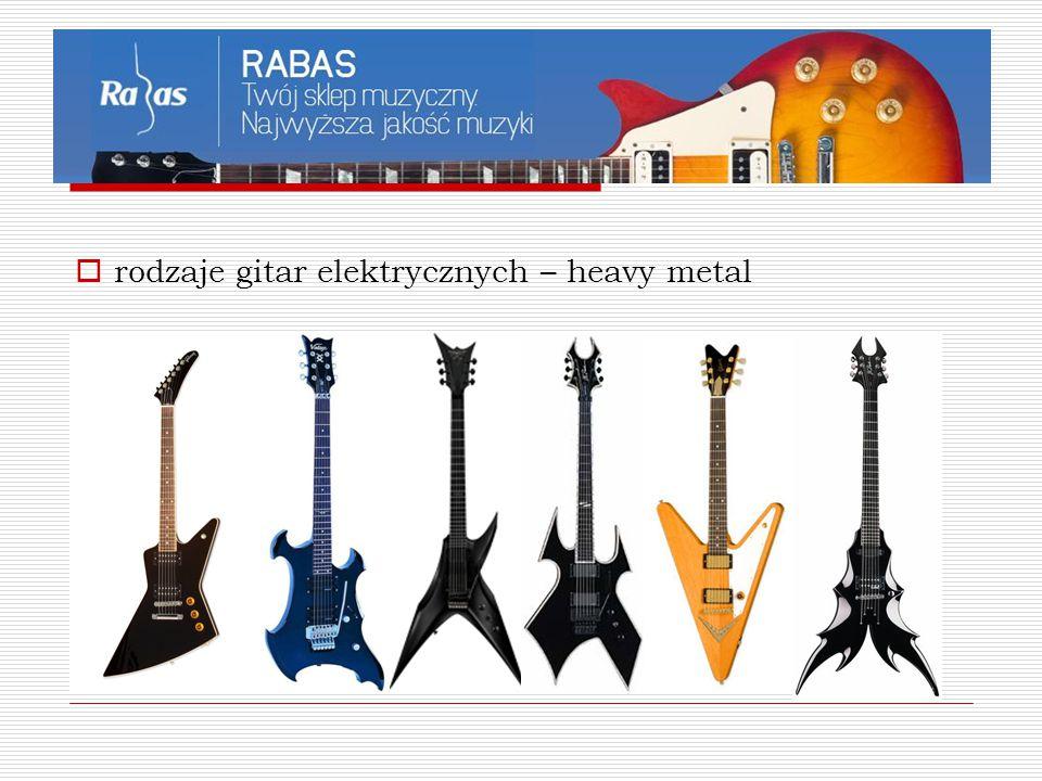  rodzaje gitar elektrycznych – heavy metal