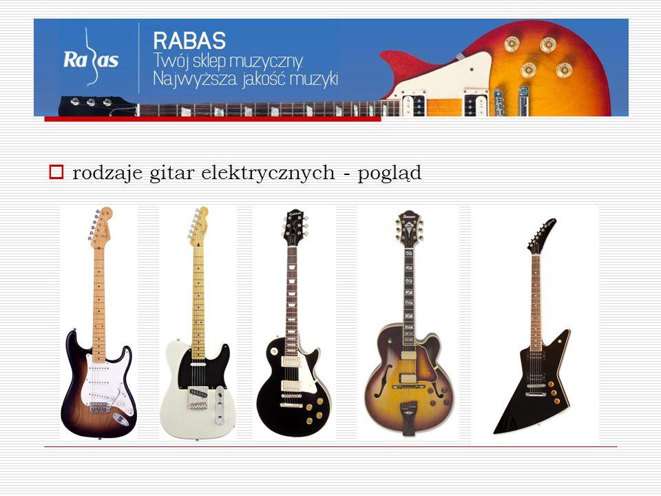  rodzaje gitar elektrycznych - pogląd