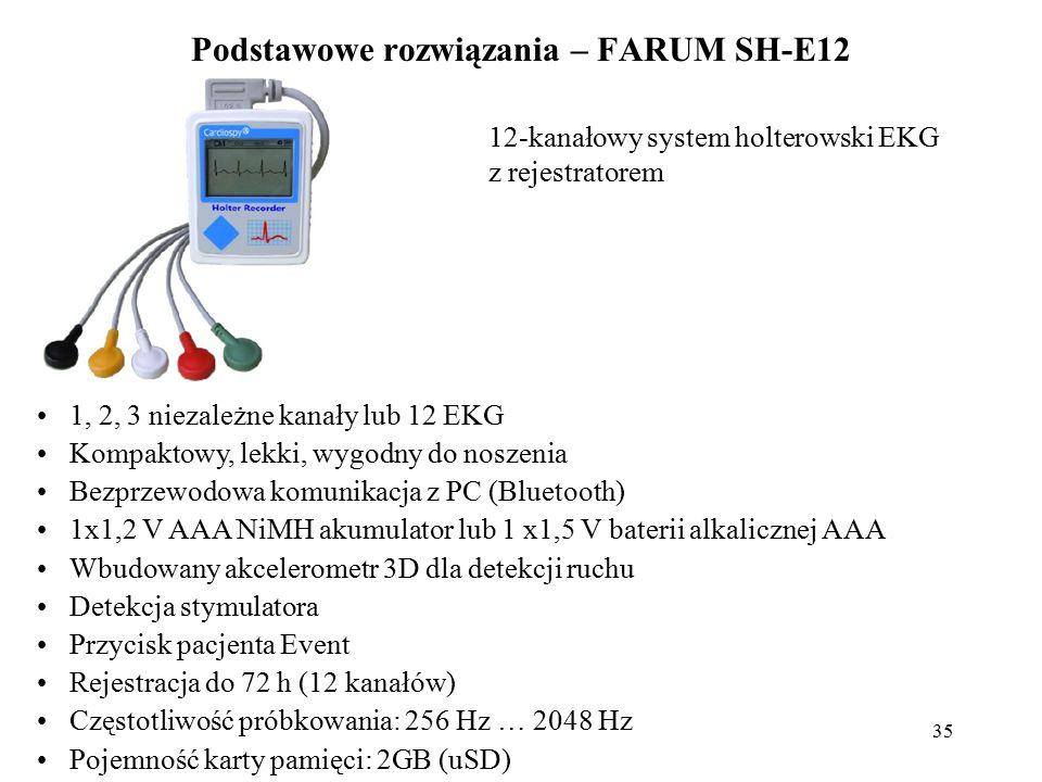 36 Żywotność akumulatora (min): 24 h Rozdzielczość LCD: 160x100 pikseli (skali szarości) Impedancja wejściowa (min) 100 MΩ Inne kanały EKG (12 kanałów): +PM Classic 12 CH, NEHB, Frank Ochrona przed wodą: IPX4 Wymiary: szer.