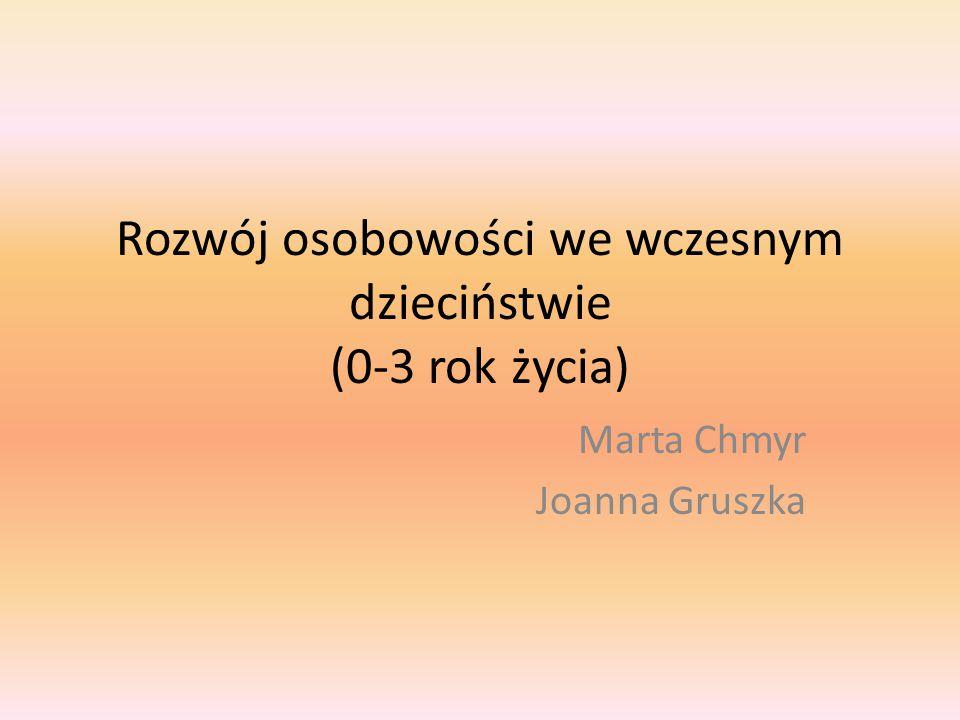 Rozwój osobowości we wczesnym dzieciństwie (0-3 rok życia) Marta Chmyr Joanna Gruszka