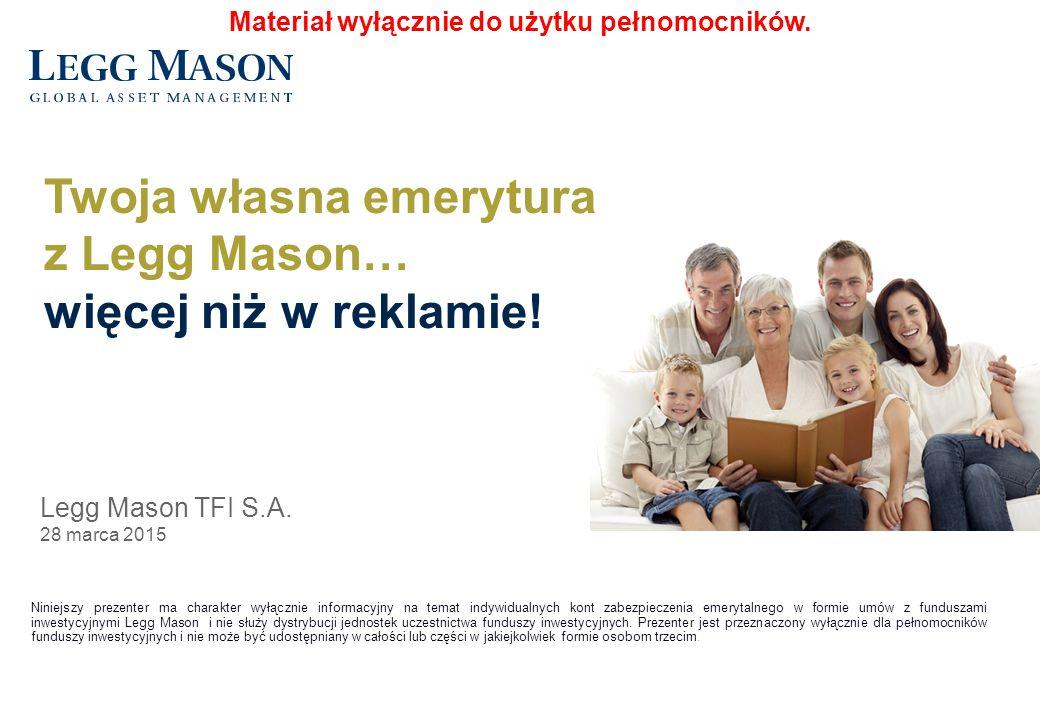 2 W ofercie KF3F IKZE Indywidualne Konto Zabezpieczenia Emerytalnego Rozwiązania emerytalne Legg Mason TFI S.A.