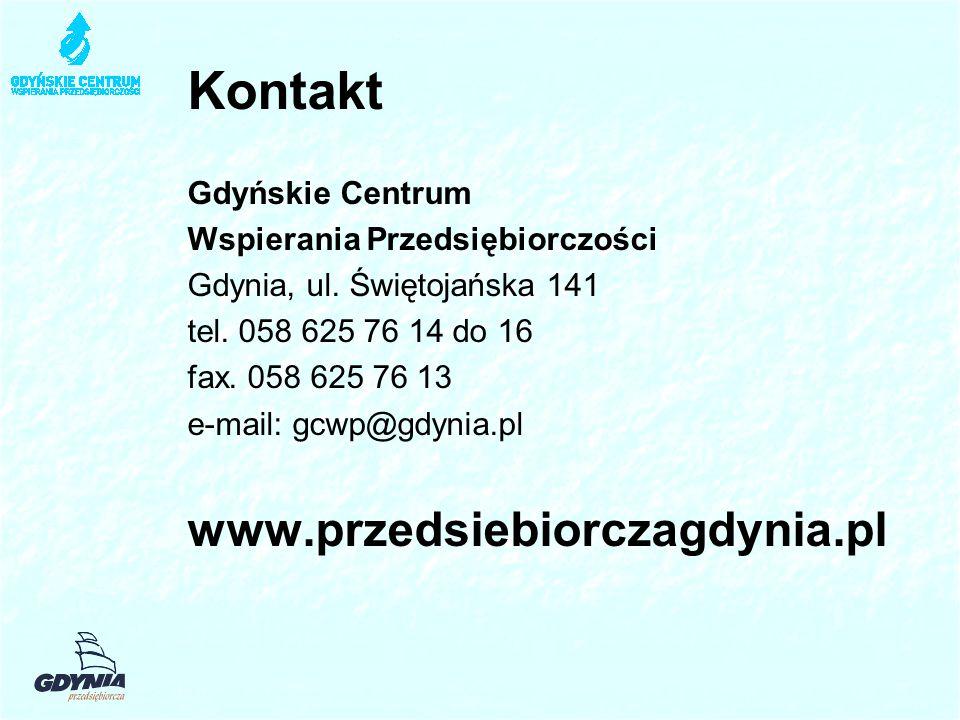 Kontakt Gdyńskie Centrum Wspierania Przedsiębiorczości Gdynia, ul.