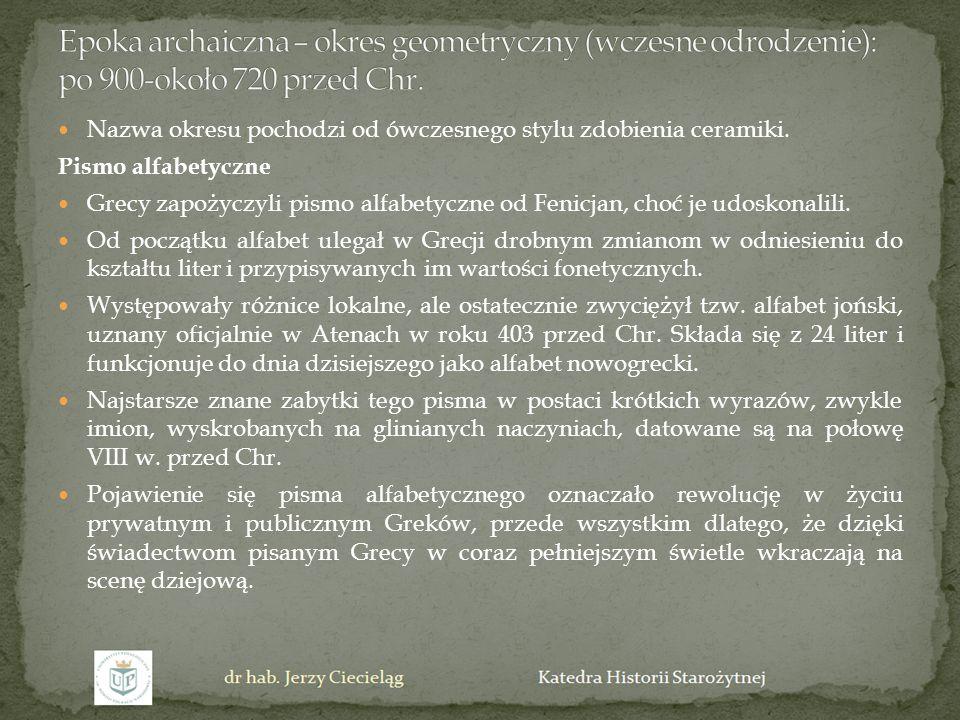Iliada i Odyseja W VIII w.przed Chr.