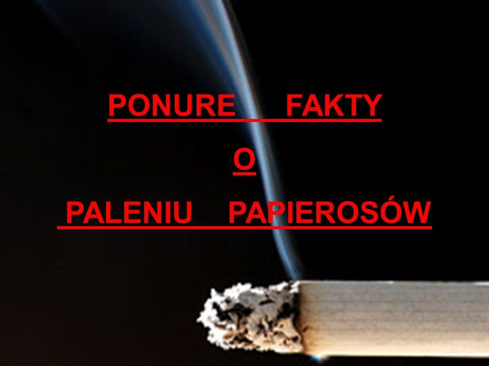 PONURE FAKTY O PALENIU PAPIEROSÓW