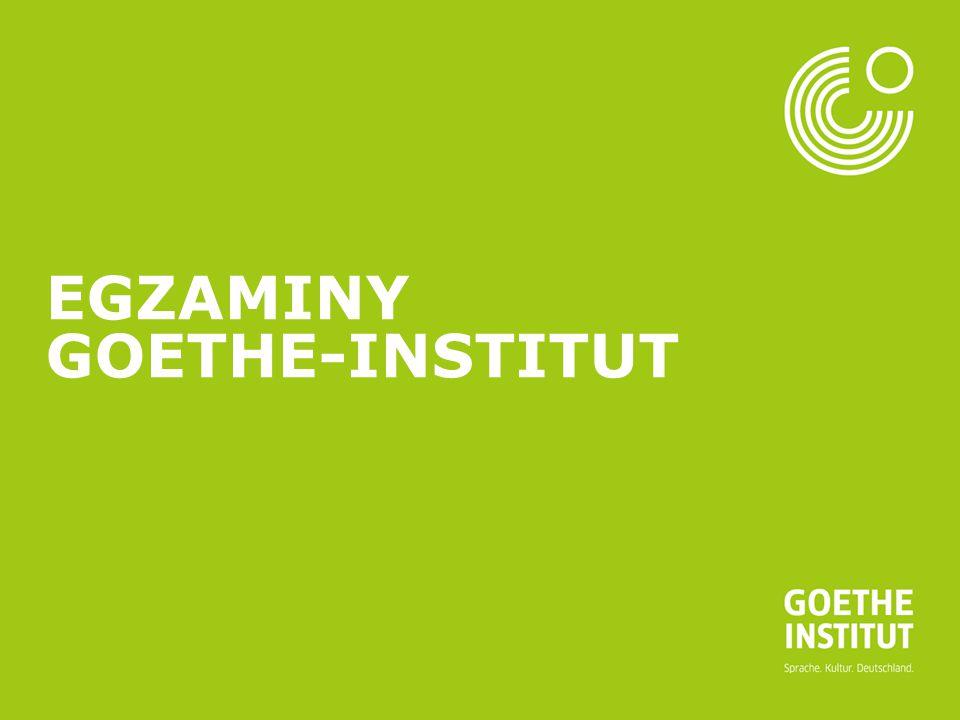 Seite 1 EGZAMINY GOETHE-INSTITUT
