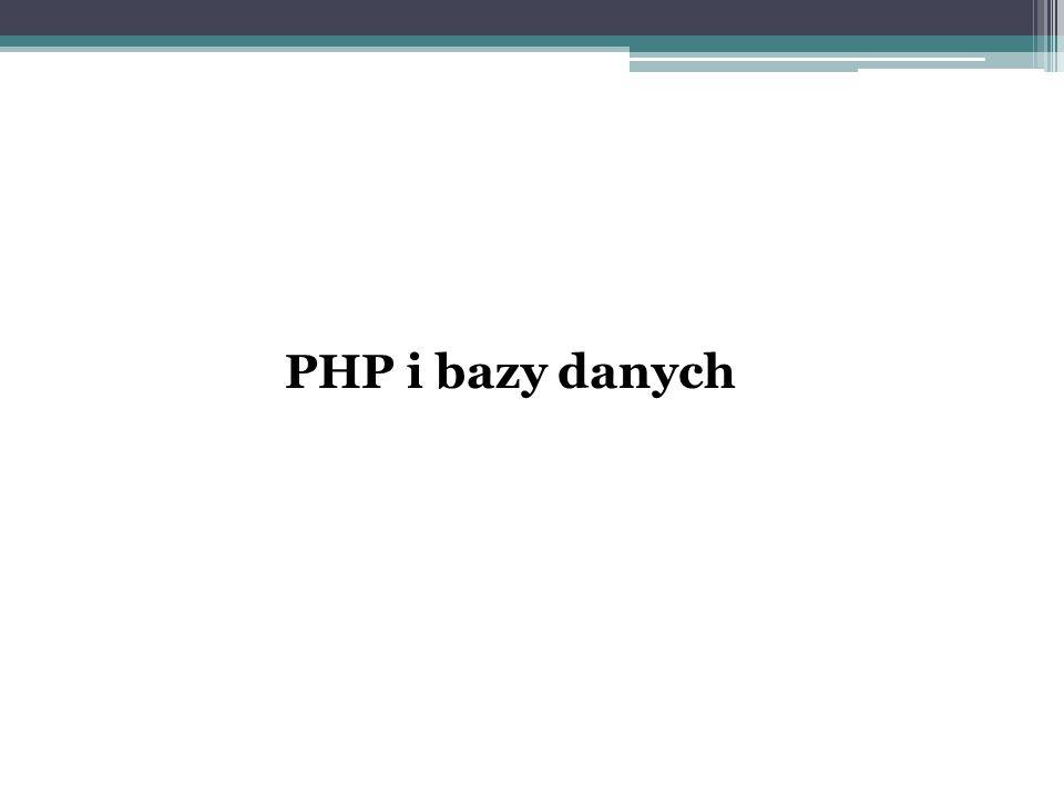 PHP i bazy danych