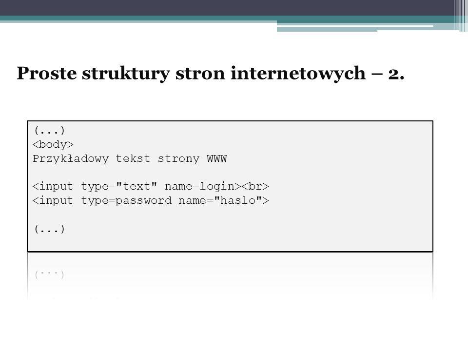 Proste struktury stron internetowych – 2.