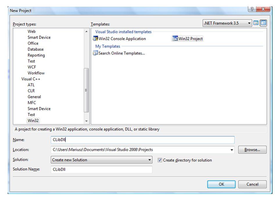 """7.Jeśli chodzi o kod aplikacji, to jest kilka """"smaczków : 1.Każdą z funkcji bibliotecznych z biblioteki CLibDll, którą chcemy wykorzystać w aplikacji należy osobno zaimportować z biblioteki używając w obrębie klasy formularza dyrektywy DllImport."""