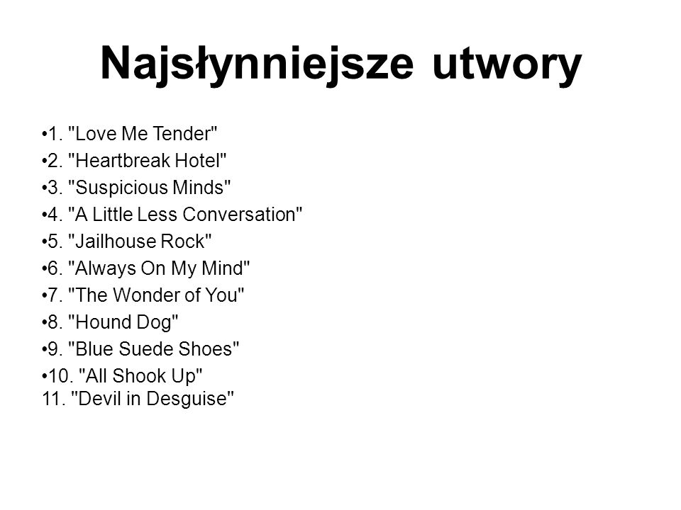 Najsłynniejsze utwory 1.