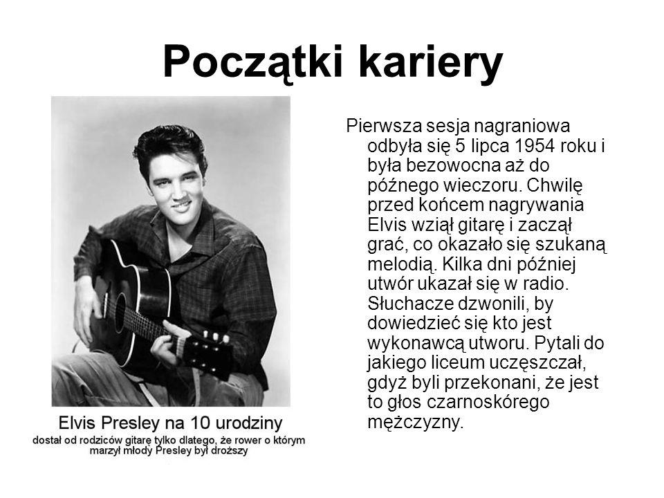 Wraz ze wzrostem koncertowania, rosła popularność Elvisa.
