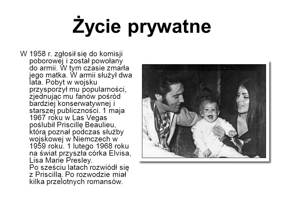 "Bibliografia: ● ""Nieznany Elvis ● pl.wikipedia.org ● onet.pl Natalia Chałupniczak"