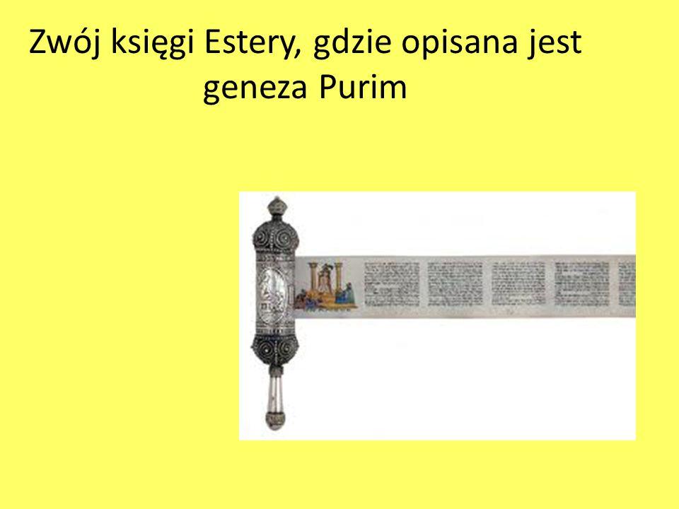 Zwój księgi Estery, gdzie opisana jest geneza Purim