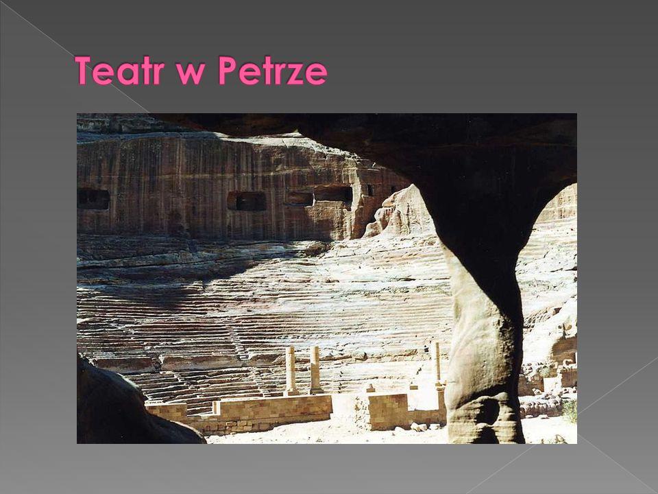 """ Khazneh (El Khazneh Faraoun) zwana przez Beduinów Skarbcem Faraona""""  Deir, czyli Klasztor""""  Kasr al Bint Faraoun, czyli tzw."""