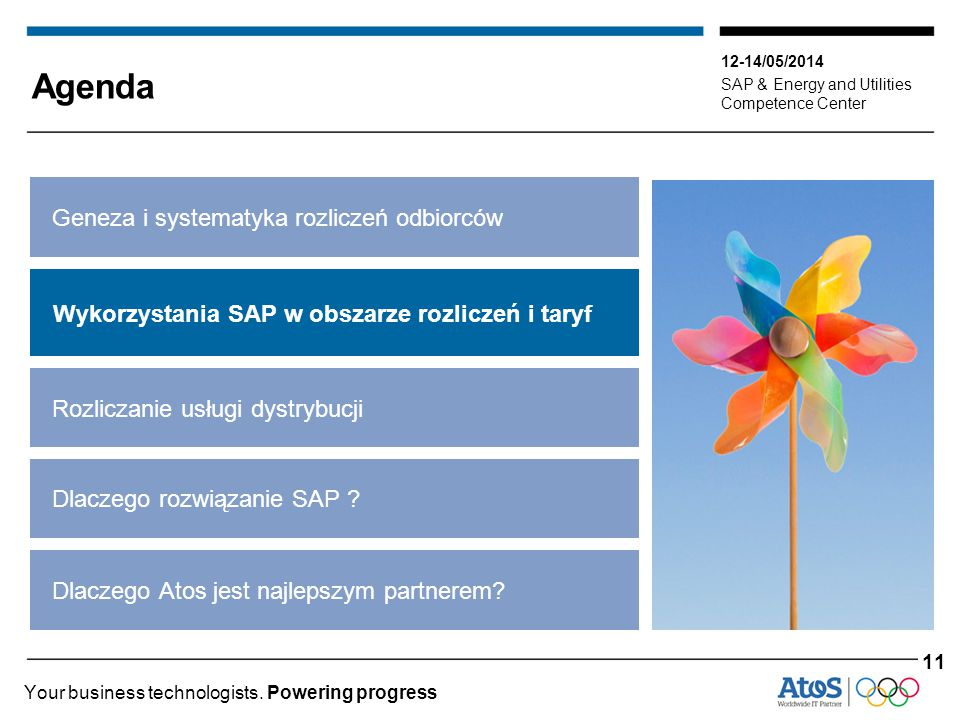 12-14/05/2014 SAP & Energy and Utilities Competence Center Your business technologists.