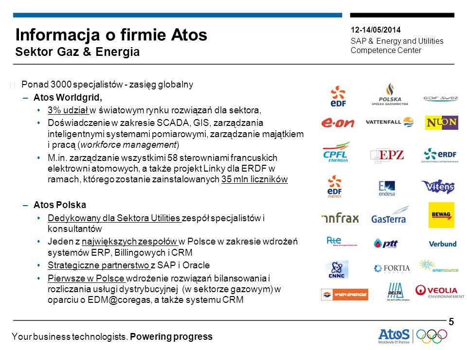 12-14/05/2014 SAP & Energy and Utilities Competence Center Your business technologists. Powering progress ▶ Ponad 3000 specjalistów - zasięg globalny