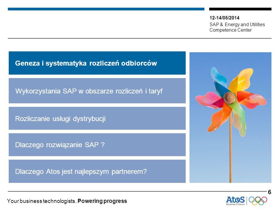 12-14/05/2014 SAP & Energy and Utilities Competence Center Your business technologists. Powering progress Geneza i systematyka rozliczeń odbiorców Wyk