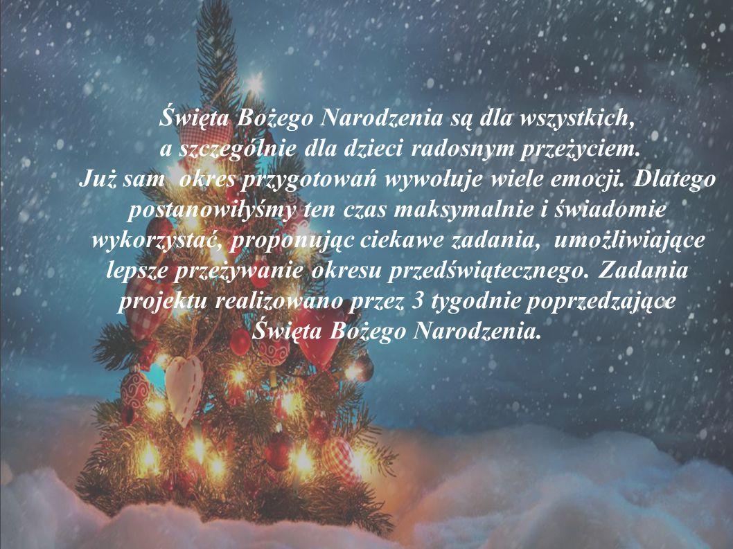 Święta Bożego Narodzenia są dla wszystkich, a szczególnie dla dzieci radosnym przeżyciem. Już sam okres przygotowań wywołuje wiele emocji. Dlatego pos