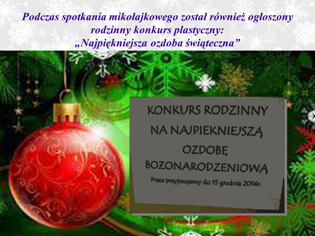 """17 grudnia nadszedł długo oczekiwany moment: spotkanie opłatkowe i jasełka """"Maleńka przyszła miłość ."""