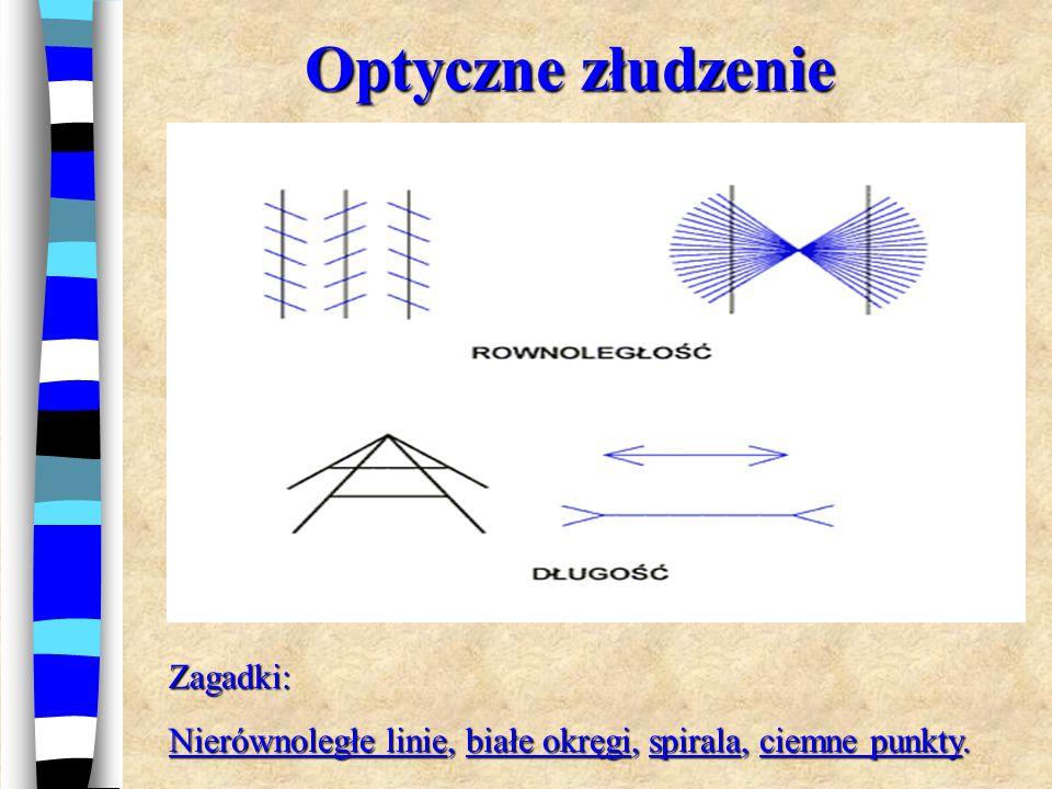 Nierównoległe linie Wbrew pozorom ukośne linie są równoległe i mają stałą szerokość.