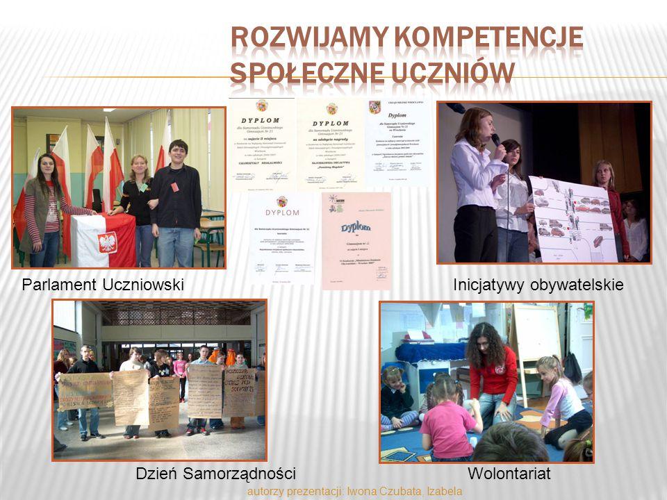 Parlament UczniowskiInicjatywy obywatelskie Dzień SamorządnościWolontariat