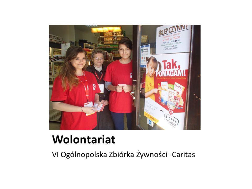 Wolontariat VI Ogólnopolska Zbiórka Żywności -Caritas