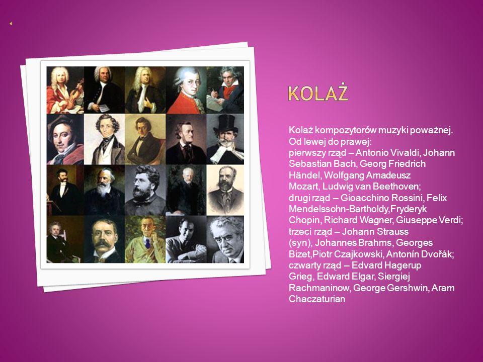  Do muzyki poważnej zalicza się gatunki przeznaczone do słuchania (np. symfonia, fuga, koncert), nie zalicza się zaś muzyki do tańca (np. polonez, wa