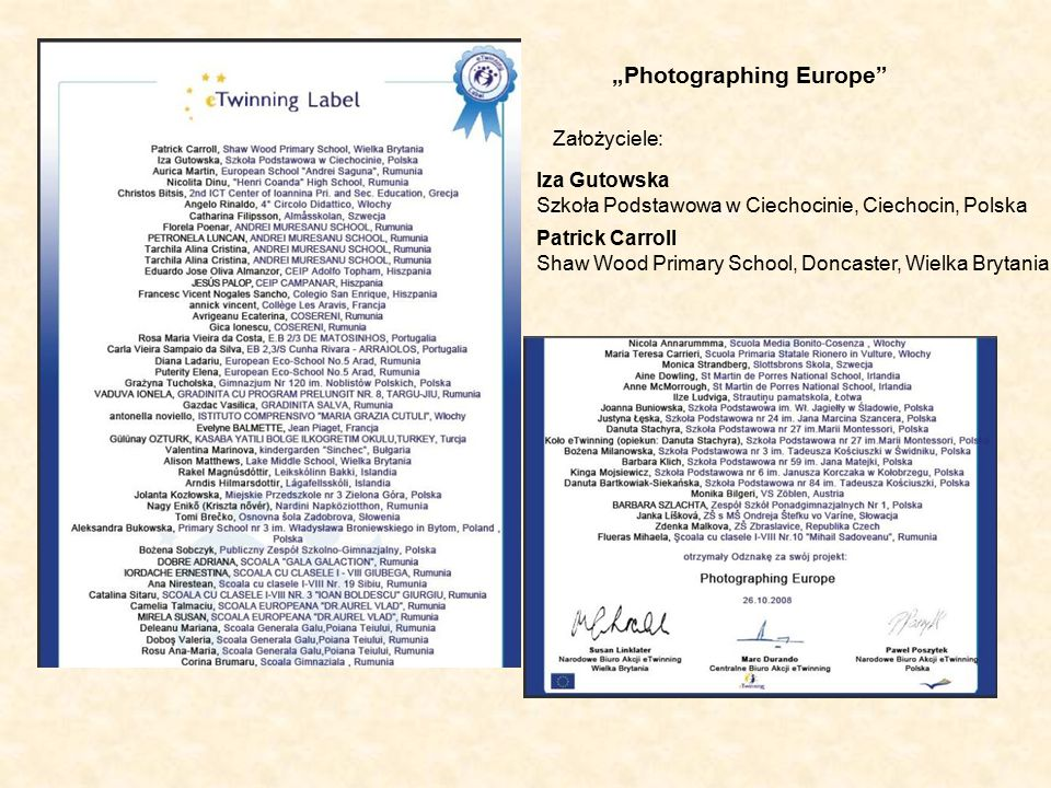 """""""Photographing Europe Initially photographing our region and school to show the children our differing localities."""