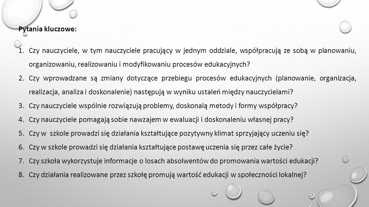 WYNIKI 1.Ankiet skierowanych do nauczycieli Ankietowanych: 14 nauczycieli 2.
