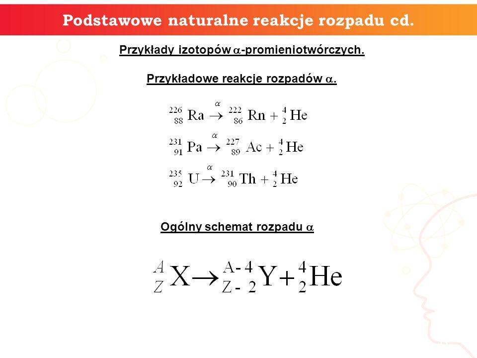 7 Podstawowe naturalne reakcje rozpadu cd.