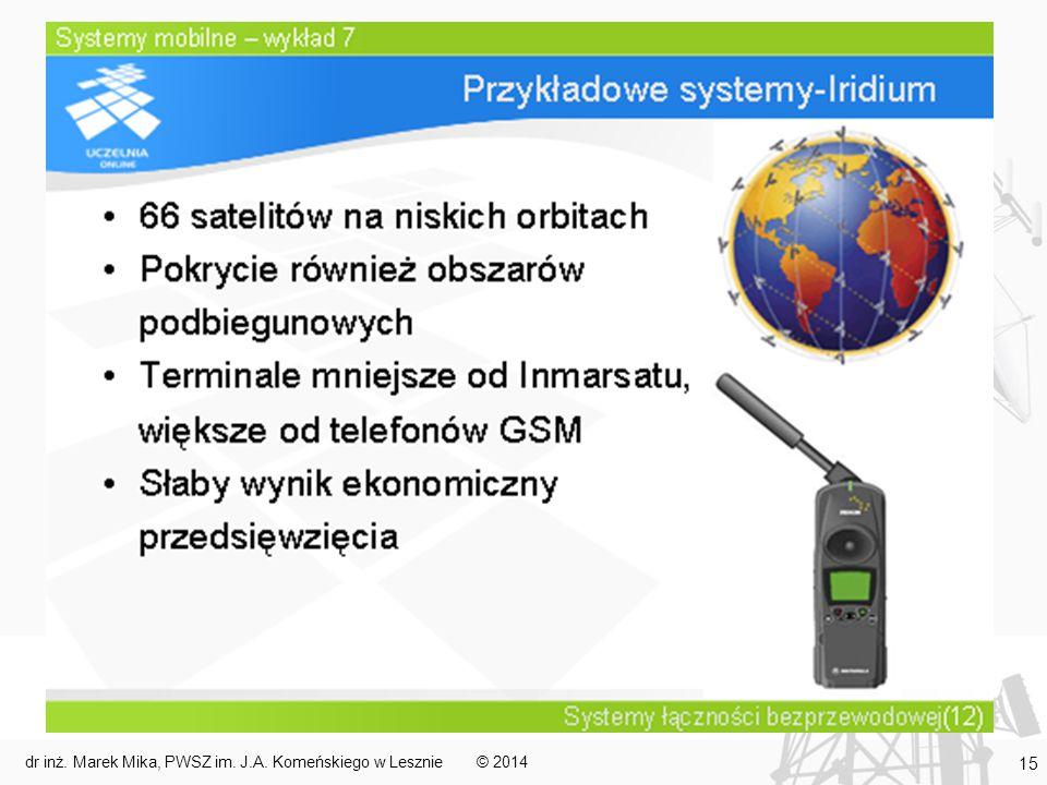 © 2014dr inż. Marek Mika, PWSZ im. J.A. Komeńskiego w Lesznie 15
