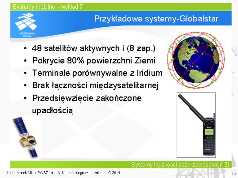 © 2014dr inż. Marek Mika, PWSZ im. J.A. Komeńskiego w Lesznie 16