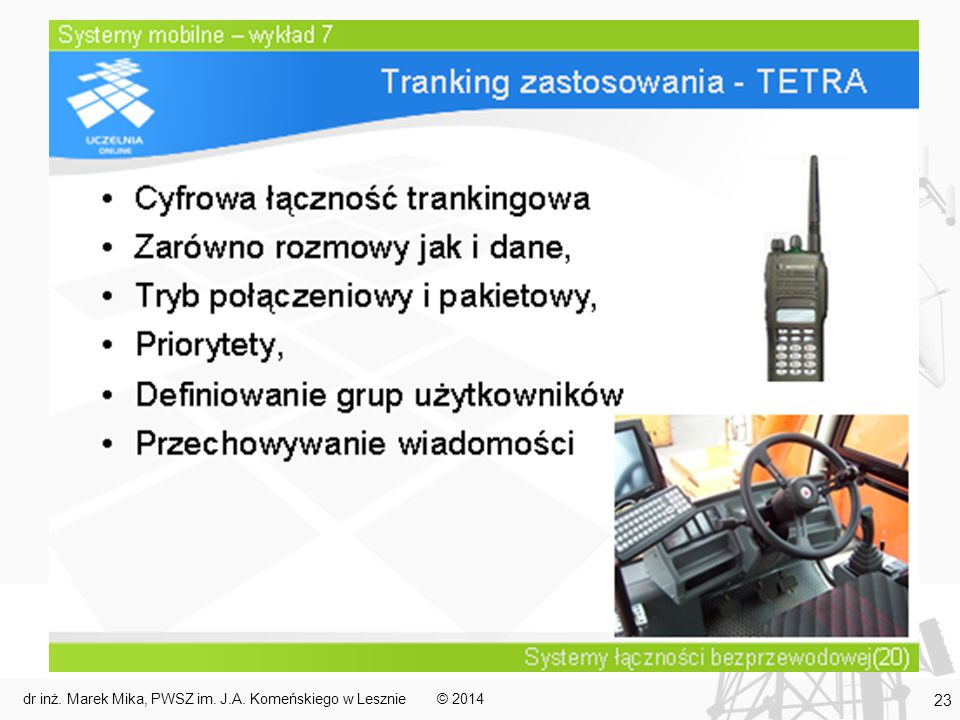 © 2014dr inż. Marek Mika, PWSZ im. J.A. Komeńskiego w Lesznie 23