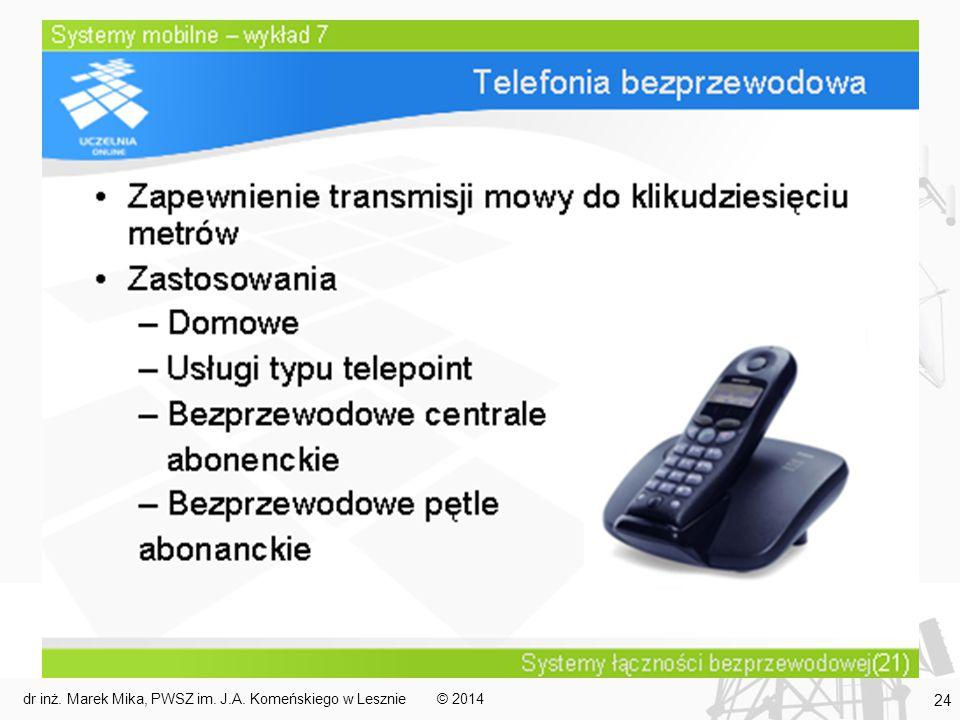 © 2014dr inż. Marek Mika, PWSZ im. J.A. Komeńskiego w Lesznie 24