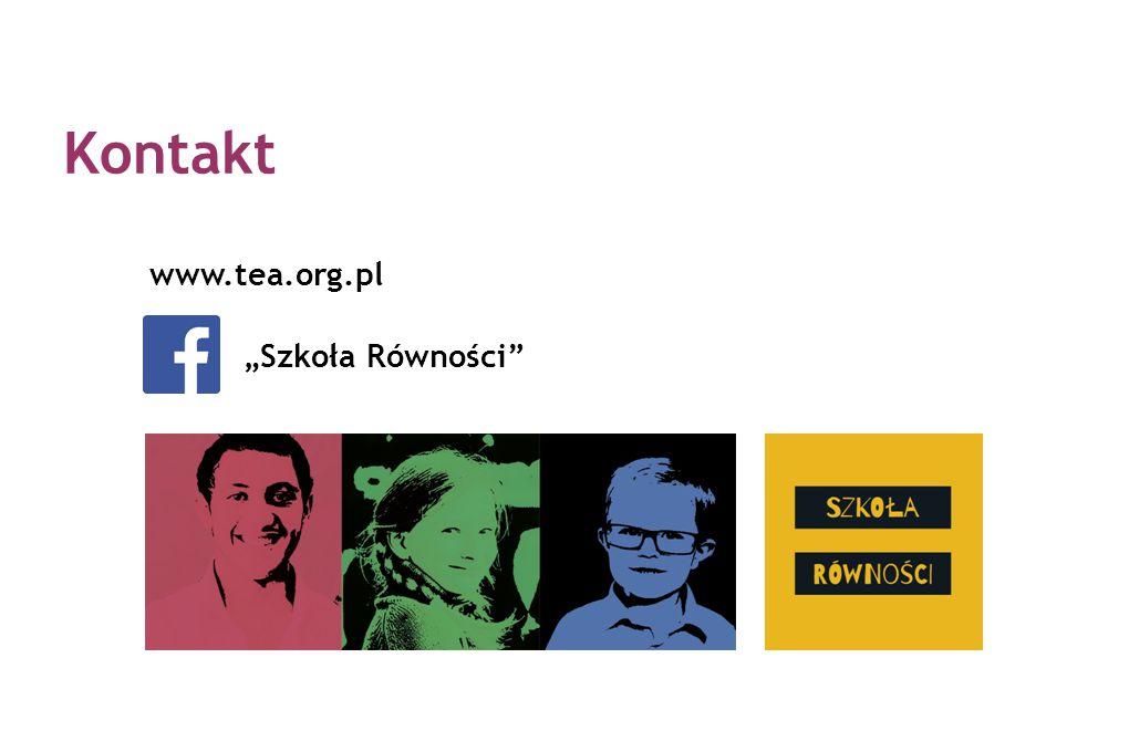 """www.tea.org.pl """"Szkoła Równości"""" Kontakt"""