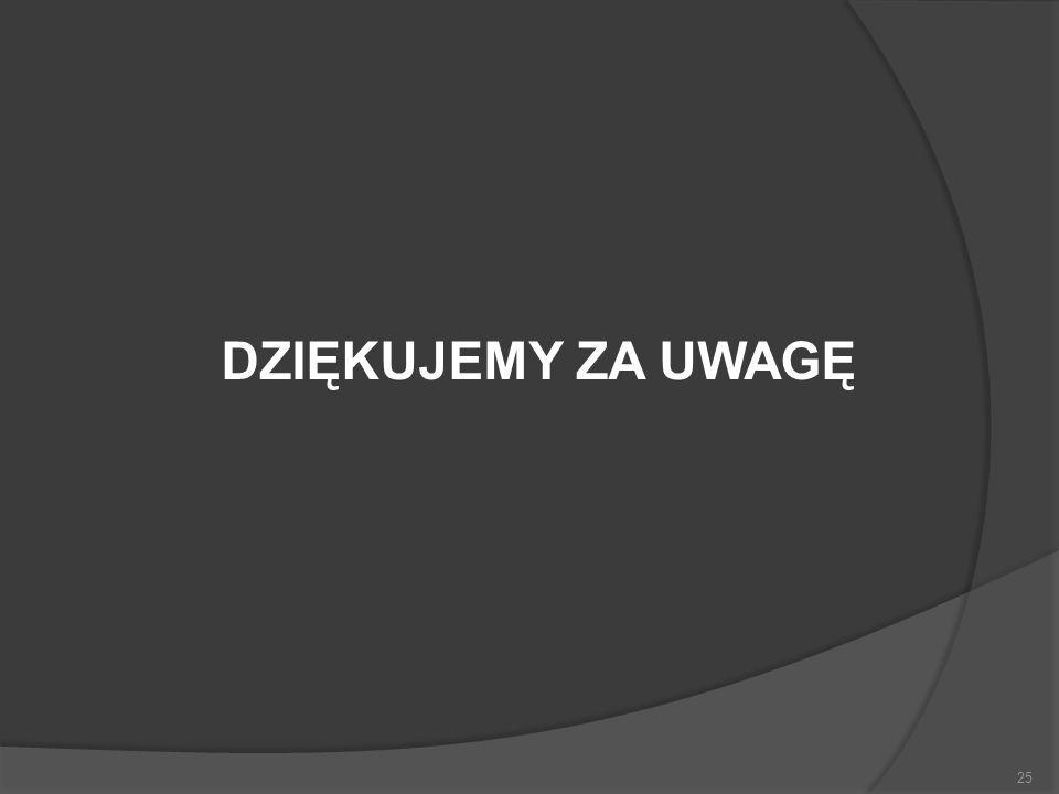25 DZIĘKUJEMY ZA UWAGĘ