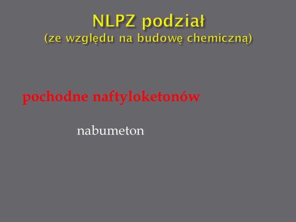 pochodne naftyloketonów nabumeton
