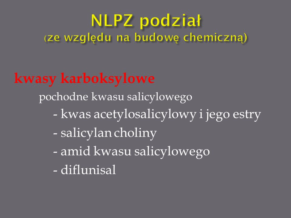 Kwas arachidonowy ↓ lipooksygenaza 5-HPETE (kwas hydroksyeikozatetraenowy) ↓ Leukotrieny A4, B4, C4, D4