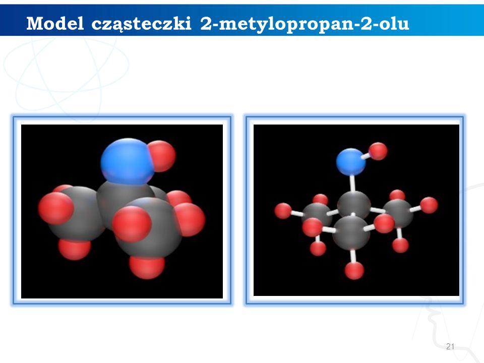 21 Model cząsteczki 2-metylopropan-2-olu