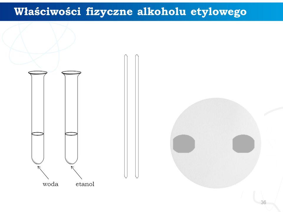 36 Właściwości fizyczne alkoholu etylowego wodaetanol