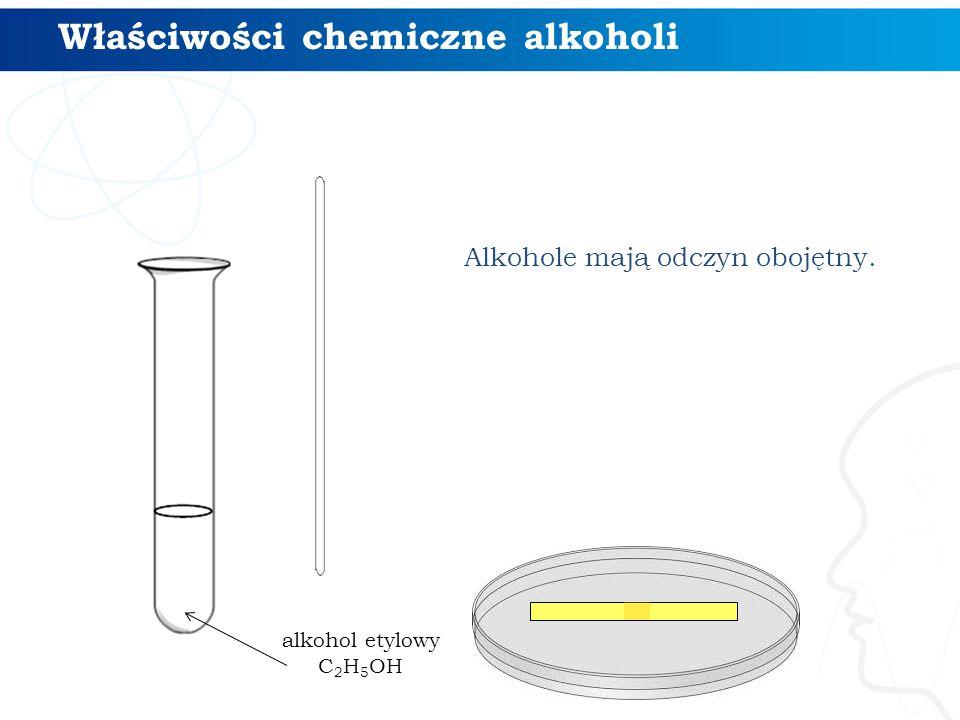 Alkohole mają odczyn obojętny. Właściwości chemiczne alkoholi alkohol etylowy C 2 H 5 OH